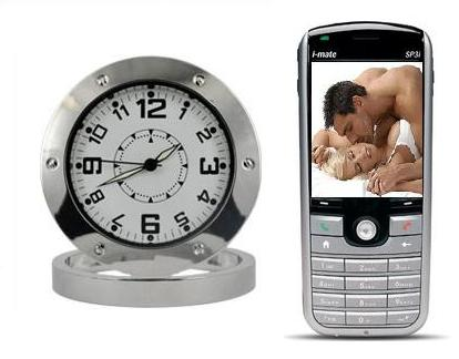 Spy Mobile Phone Operated Spy Table Clock Camera