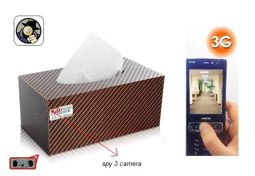 SPY 3G HIDDEN CAR TISSUE PAPER BOX CAMERA In Banswara