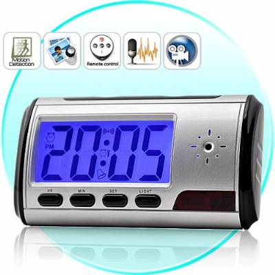 Spy Long Time Recording Digital Table Clock With Sony Camera