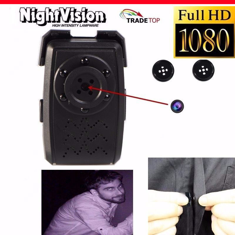 Spy Button Camera With Night Vision IR Facility