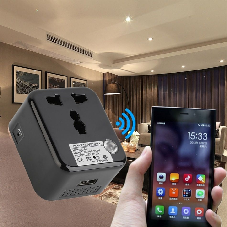 Spy Plug WI-FI Charger With Video Recorder Live