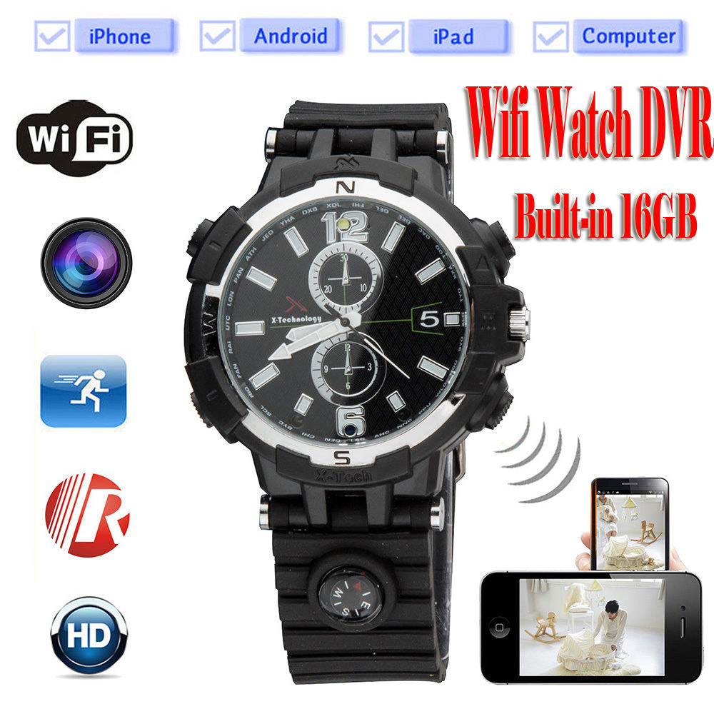 Spy WI-FI Watch Camera HD Night Vision