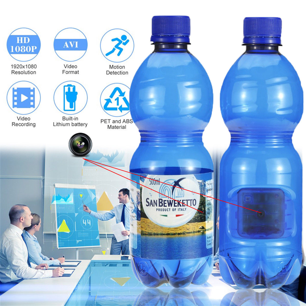 Spy Camera In Original Water Bottle Amazing Product
