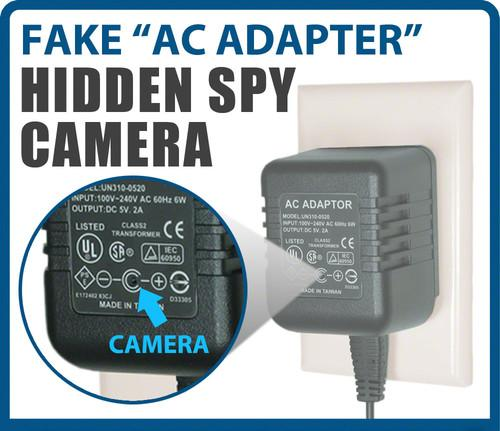 SPY AC ADAPTER HIDDEN CAMERA WITH MOTION ACTIVATED