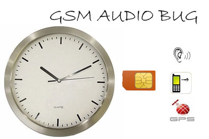 Spy GSM Bug Microphone In Wall Clock